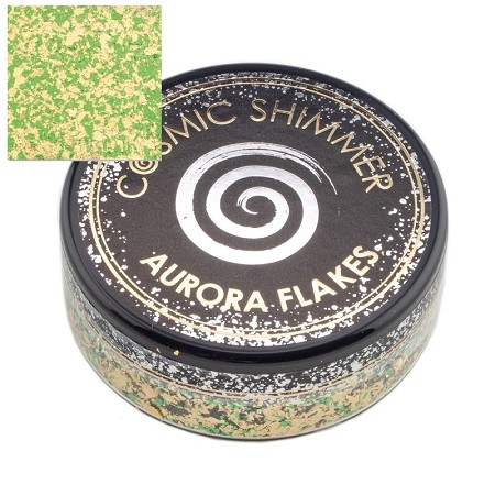 Creative Expressions - Jade Gold Cosmic Shimmer Aurora Flakes