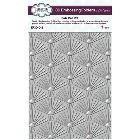 "Creative Expressions - 3D Embossing Folder - Fan Palms (5.75""x7.25"")"