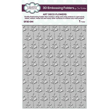 "Creative Expressions - 3D Embossing Folder - Art Deco Flowers (5.75""x7.25"")"