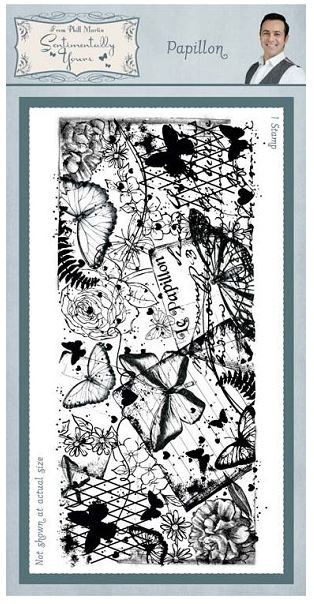 Creative Expressions - Cling Stamp - Sentimetally Yours Papillon by Phill Martin