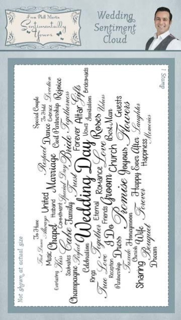 Creative Expressions - Cling Stamp - Sentimetally Yours Wedding Sentiment Cloud by Phill Martin