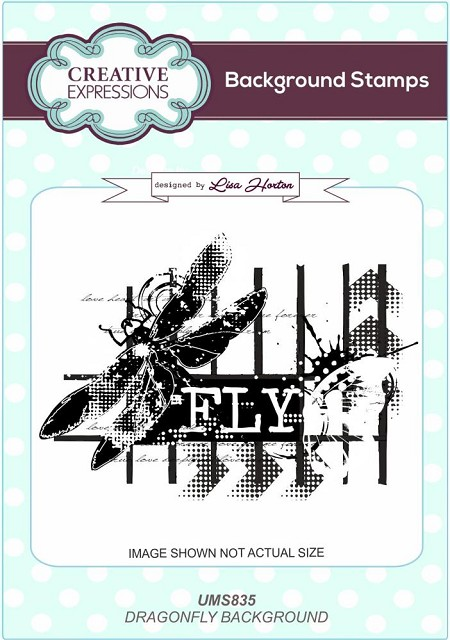 Creative Expressions - Cling Stamp - Dragonfly Background by Lisa Horton