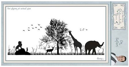 Creative Expressions - Cling Stamp - Sentimentally Yours On Safari by Phill Martin