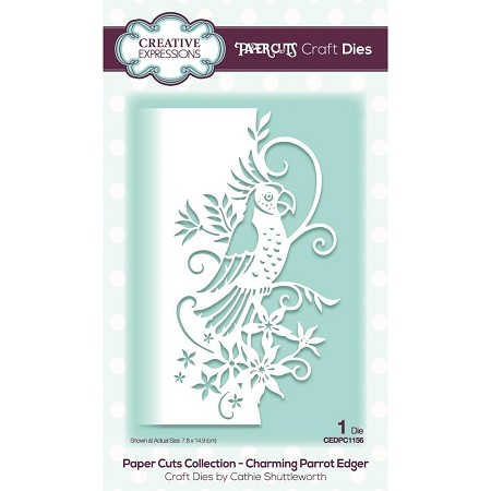 Creative Expressions - Die - Paper Cuts Charming Parrot Edger