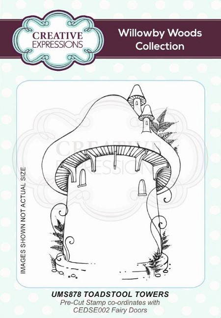 Creative Expressions - Willowby Woods Collection - Toadstool Towers Cling Stamp