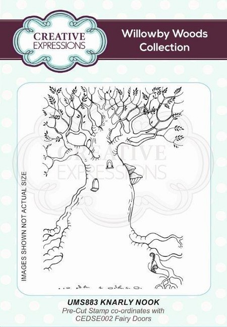 Creative Expressions - Willowby Woods Collection - Knarly Nook Cling Stamp