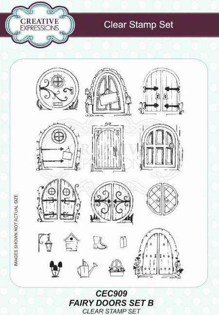Creative Expressions - Willowby Woods Collection - Fairy Doors Set B Clear Stamps