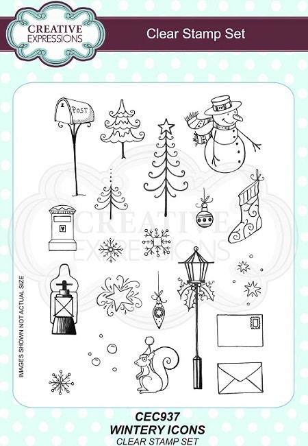 Creative Expressions - Willowby Woods Collection - Wintery Icons Clear Stamps
