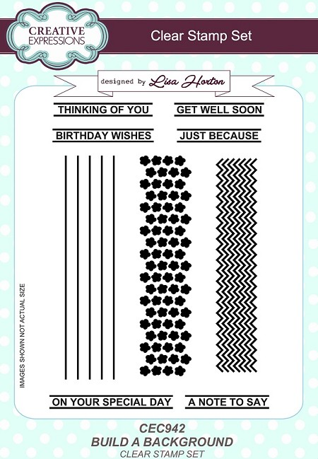 Creative Expressions - Clear Stamp - Build a Background by Lisa Horton