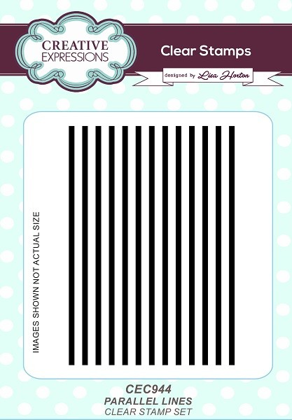 Creative Expressions - Clear Stamp - Parallel Lines by Lisa Horton