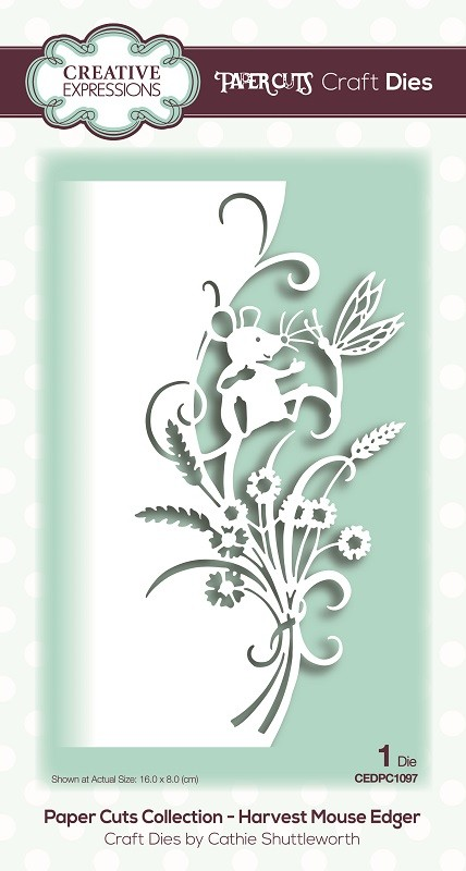 Creative Expressions - Die - Paper Cuts Collection Harvest Mouse Edger