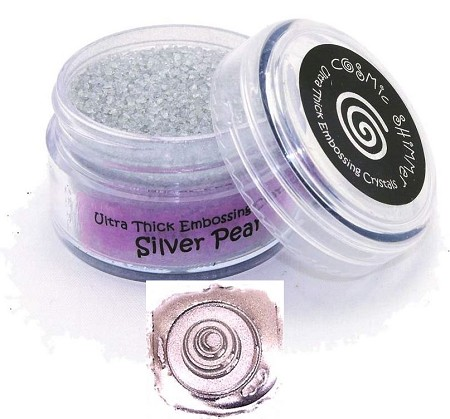 Creative Expressions - Cosmic Shimmer Embossing Crystals - Ultra Thick Silver Pearl
