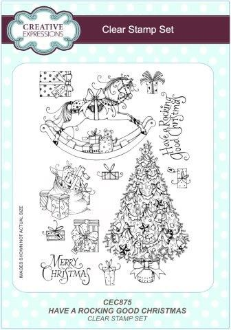 Christmas Expressions.Creative Expressions Clear Stamp Have A Rocking Good Christmas