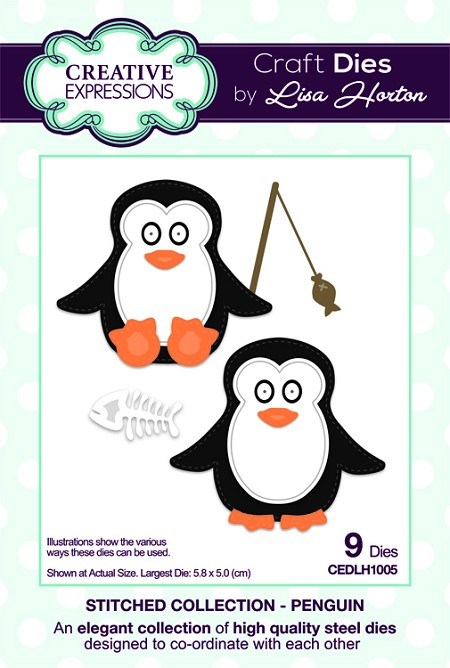 Creative Expressions - Die - Stitched Collection by Lisa Horton - Penguin