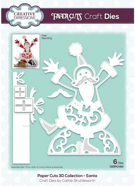 Creative Expressions - Die - Paper Cuts Collection 3D Santa