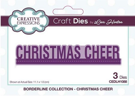 Creative Expressions - Die - Borderline Collection Christmas Cheer by Lisa Horton