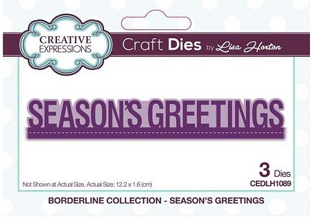 Creative Expressions - Die - Borderline Collection Season's Greetings by Lisa Horton