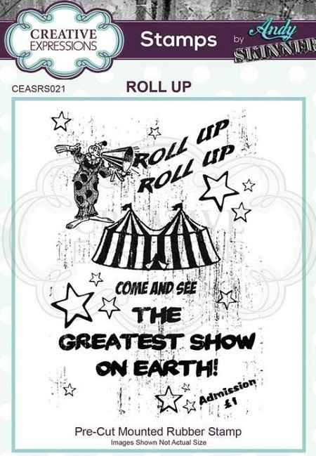 Creative Expressions - Andy Skinner Roll Up Cling Stamp
