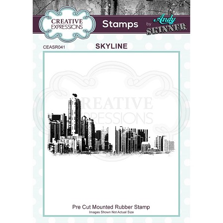 Creative Expressions - Andy Skinner Skyline Cling Stamp
