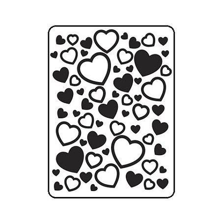 Darice Embossing Folder - (A2 Size) - Scattered Hearts