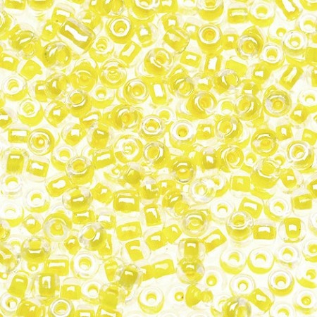 Darice - Glass Seed Beads Size 10/0 - Luster Yellow