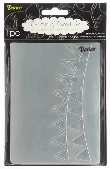 Darice-Embossing Folder- (Size A2) - Pennant Bunting (banners)