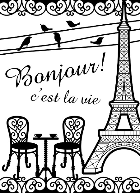 Darice Embossing Folder (Size A2) - French Bistro
