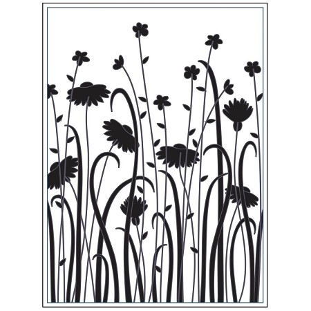 Darice Embossing Folder - (A2 Size) - Dainty Wildflowers