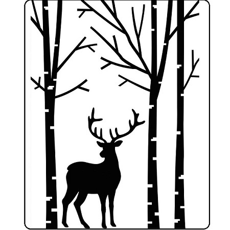 Darice Embossing Folder - (A2 Size) - Deer In Forest