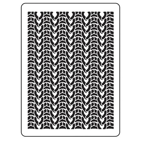 Darice Embossing Folder - (A2 Size) - Knit Sweater