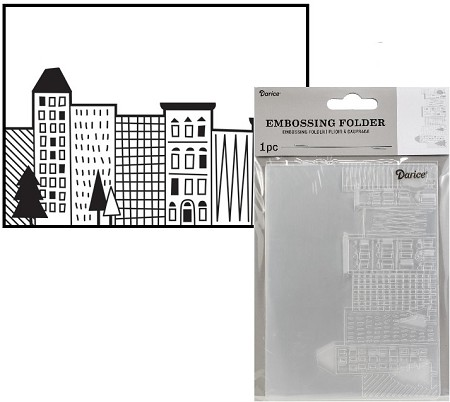 Darice Embossing Folder - (A2 Size) - City Scene