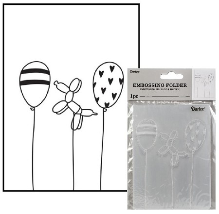 Darice Embossing Folder - (A2 Size) - Balloons