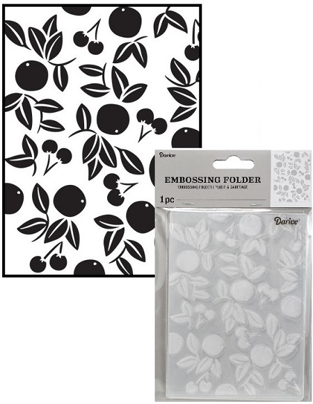 Darice Embossing Folder - (A2 Size) - Cherries