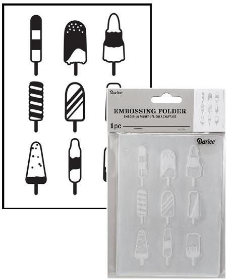 Darice Embossing Folder - (A2 Size) - Popsicles