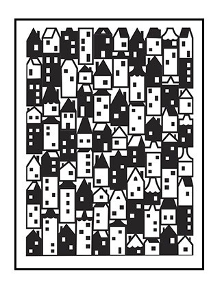 Darice Embossing Folder - (A2 Size) - Houses Pattern