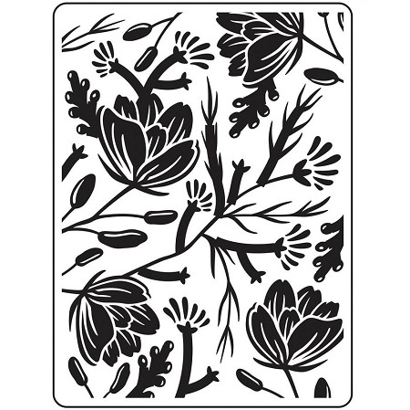 Darice Embossing Folder - (A2 Size) - Flower Pod Background