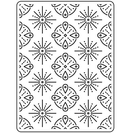 Darice Embossing Folder - (A2 Size) - Tribal Background