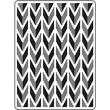 Darice Embossing Folder - (A2 Size) - Arrow Background