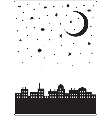 Darice Embossing Folder - (A2 Size) - City Moon