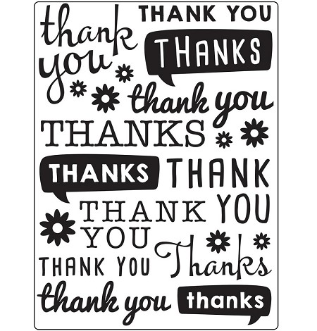 Darice Embossing Folder - (A2 Size) - Thank You