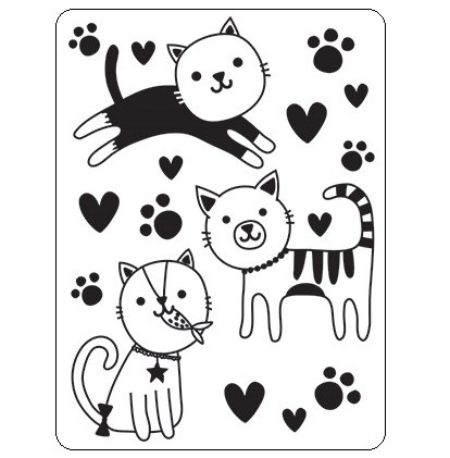 Darice Embossing Folder - (A2 Size) - Cats