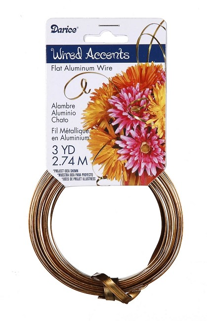 Darice - Flat Floral Wire Accents - Gold (3 Yds)