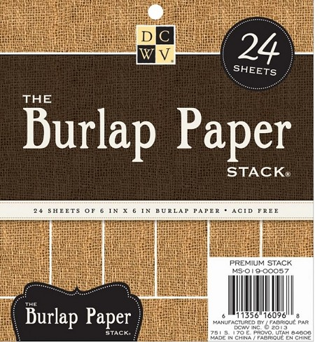 "Die Cuts With A View - 6""x6"" Pad - The Burlap Paper Stack"