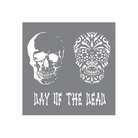 "DecoArt - Andy Skinner Mixed Media 8""x8"" Stencil - Day of the Dead"