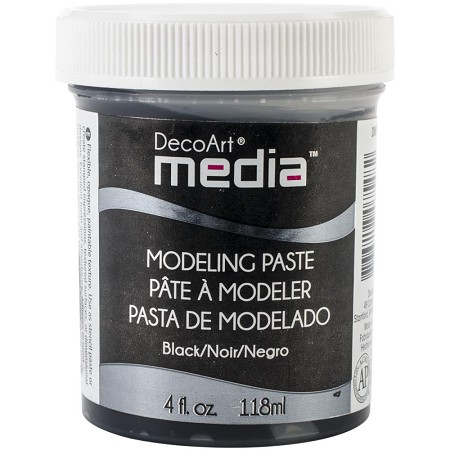 DecoArt - Mixed Media System - Black Modeling Paste DMM22 (4 fl oz)