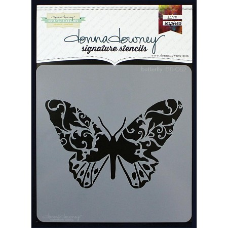 "Donna Downey Studios - 8.5""x8.5"" Stencil - Butterfly"