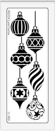 Dreamweaver Large Metal Stencil - Vertical Ornaments