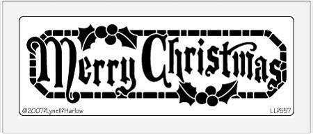 Dreamweaver Large Metal Stencil - Long Merry Christmas