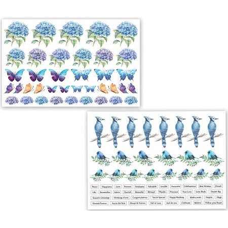 Dress My Craft - Hydrangea Lawns Motif Sheets
