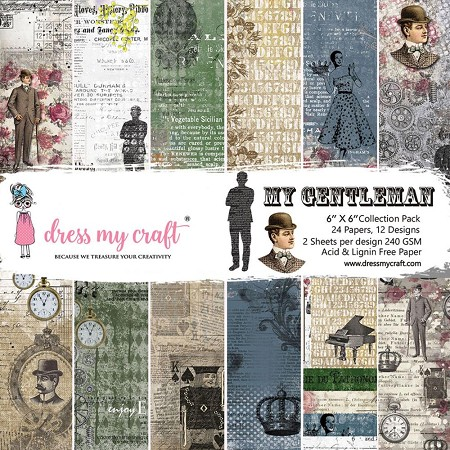 Dress My Craft - My Gentleman 6x6 Cardstock Pad
